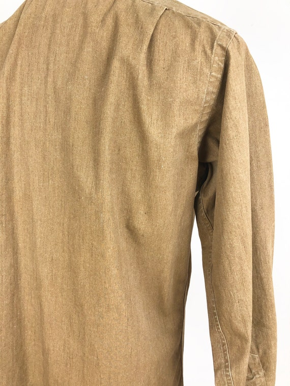 1980s Polo Ralph Lauren Waxed Canvas Shirt M - image 5