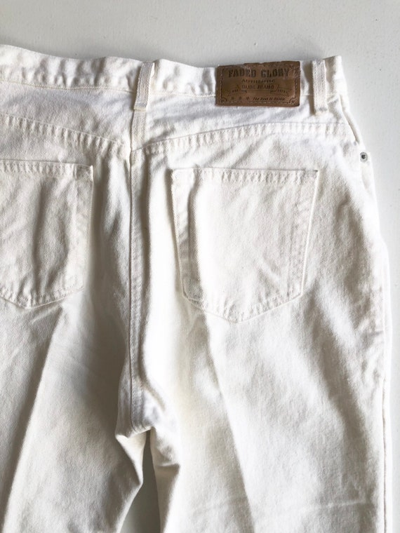 """1980s Faded Glory White High Rise Jeans 30"""" Waist - image 6"""