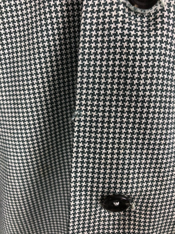 1950s Houndstooth Dunhill Cotton Loop Collar Shir… - image 5