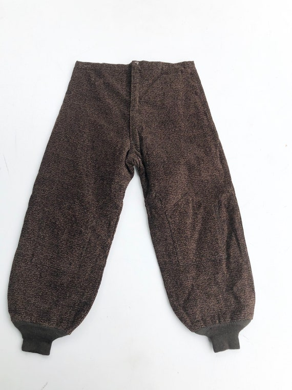 FABULOUS 1940's Marled Corduroy High Waist Pants 3