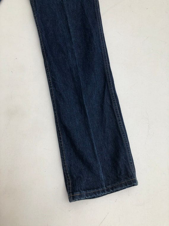 1980s Calvin Klein High Waisted Dark Blue Denim J… - image 6