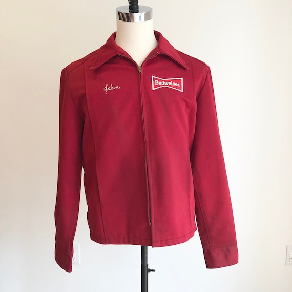 1970s Red Budweiser Uniform Jacket L