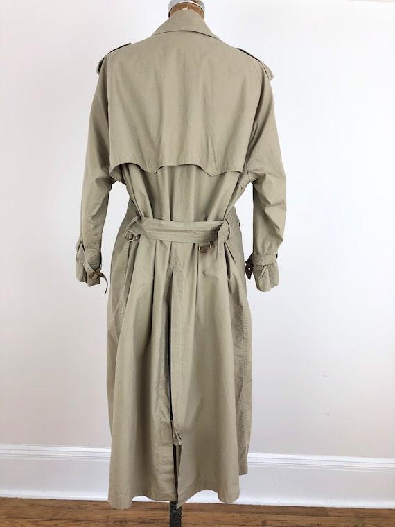 1980s Ralph Lauren Classic Khaki Trench Coat M - image 5