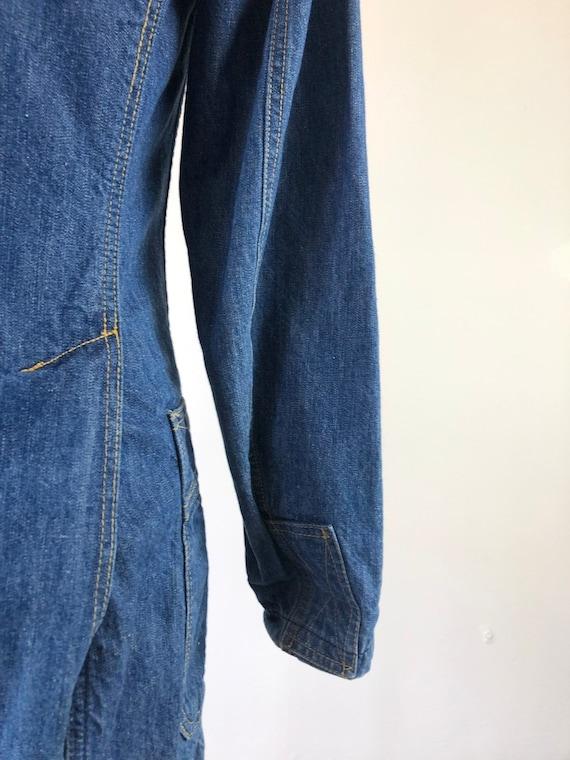 1970's Lee Denim Blazer Jacket S - image 5