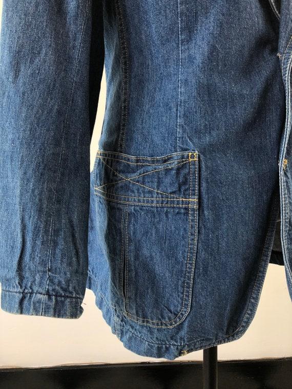 1970's Lee Denim Blazer Jacket S - image 6