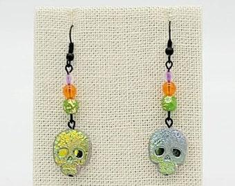 Skull Halloween Earrings