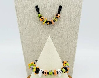 Spooky Halloween Necklace and Earring Set