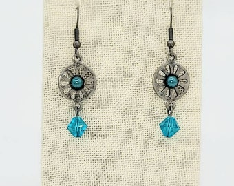 Daisy Blue Earrings