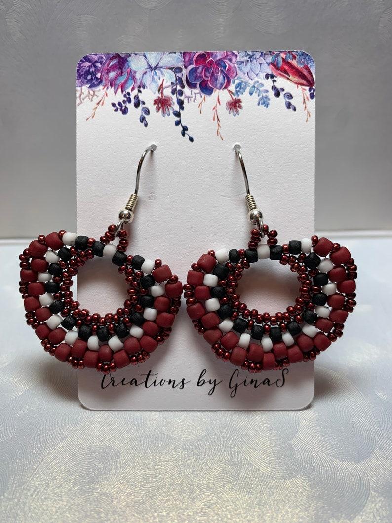 Elegance in Red Earrings