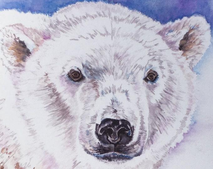 3D PopUp Card for Christmas Polar Bear and Santa Winter Greeting Card for Christmas
