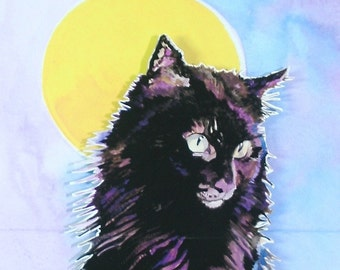 3D PopUp Card of a Black Cat Suitable for Birthdays, Thank you Card, Halloween Card or Just to Say Hi Card