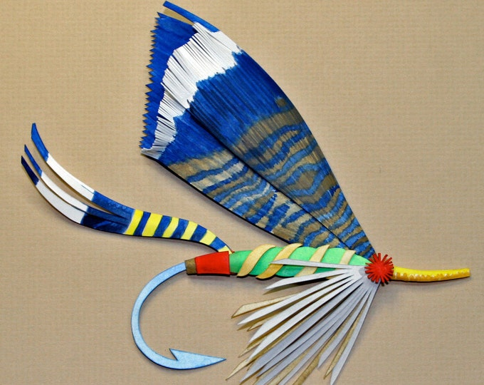 3D Fishing  Fly Paper Sculpture of a Romeyn Fly