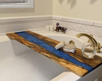 Your Custom Epoxy River Bathtub Tray or Large Charcuterie Board