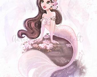 Floral Mermaid Princess