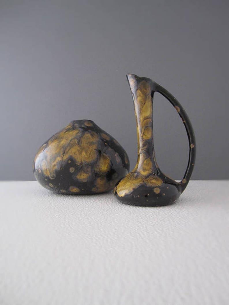 Vintage Fat Lava Ewer and Onion Studio Art Pottery  Free image 0