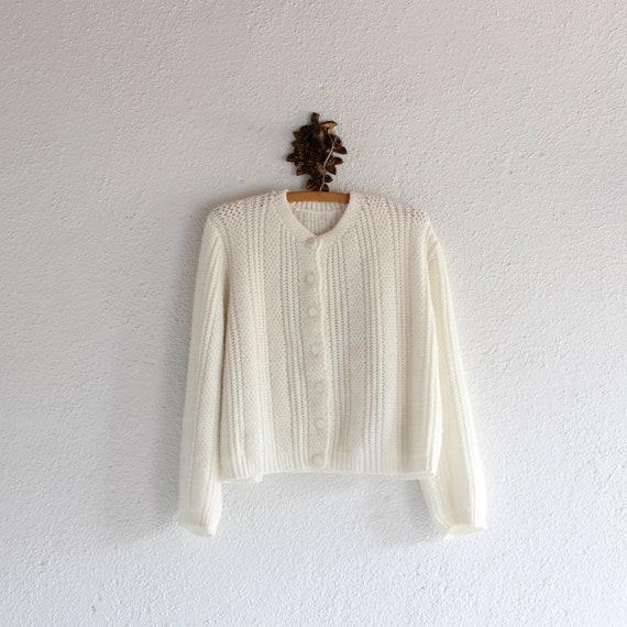 1960's Vintage Cream Sweater/ 60's Vintage Cream K