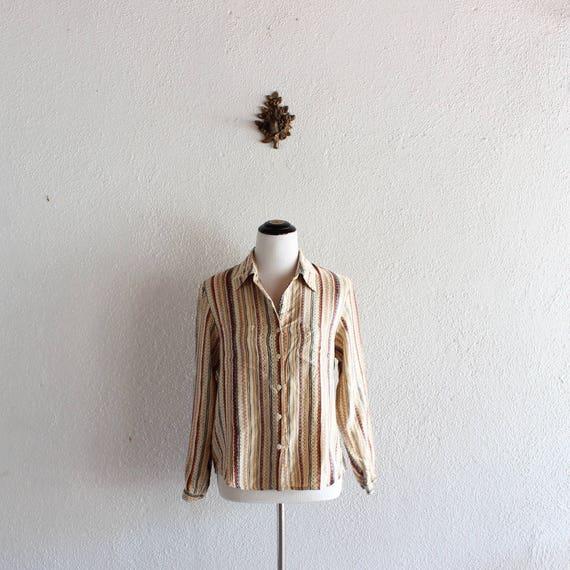 1970s India Silk Blouse/ 70s Silk Blouse/ 70s Vint