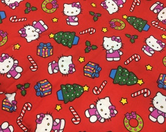 3 yd, Sanrio Hello Kitty Christmas Fabric,