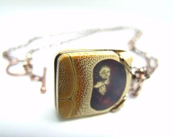 Bamboo Sandwich - Pendant, Necklace