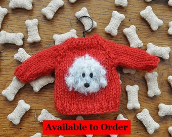 Poodle for nomadic knit wool ball or crochet pattern choice gift idea for jouy canvas knitter