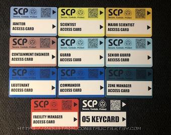 SCP Foundation Secure Access ID Cards - Secret Laboratory Version