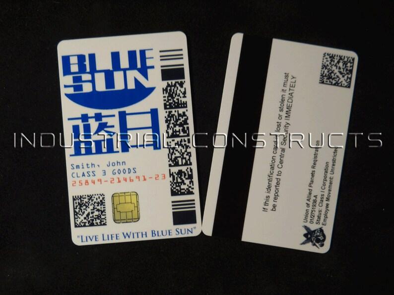 Custom Blue Sun ID Card / Badge - Firefly / Serenity Fan Inspired Prop