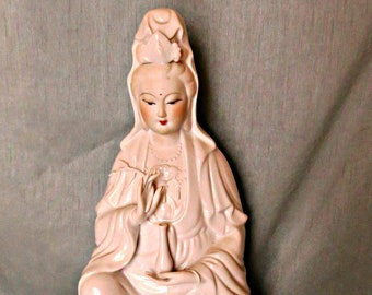 Porcelain Quan Yin_kuan yin statue_Chinese Mother Mary_vintage figure_mother's day gift