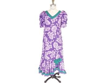 9ad6286f9ab Hawaiian Muumuu Dress with Hibiscus Print