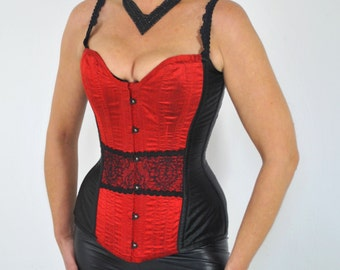 Red Silk and Lace Corset