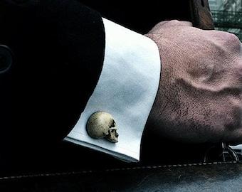 Free shipping Skull Cufflinks - Chic Hand made skull cuff links