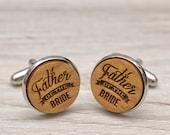 Wedding Cufflinks - Father of the Bride  - Very elegant wooden wedding ceremony cuff links