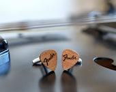 Cufflinks wood Guitar Pick - Fender men cufflinks - Perfect wedding cufflinks - custom cufflinks