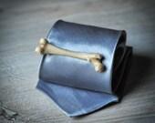 Human Bone Tie Clip - femur replica tie bar - victorian men accessories - hand made Tie Tack