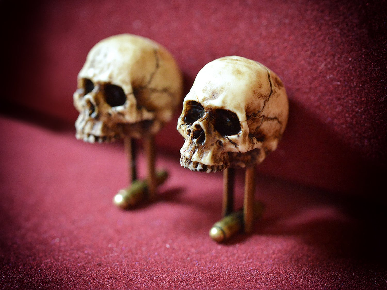 Victorian Skull mens cufflinks- Hand made accessories for men - Made in Italy skull jewelry - Wedding cufflinks - Valentine day