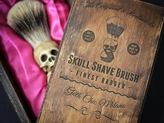 skull shaving brush hand made finest badger shave brush with etsy