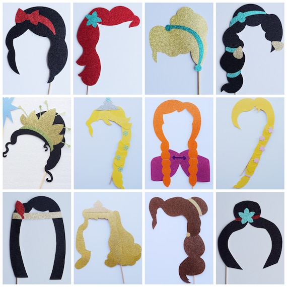 Disney Photo Booth Props Disney Princess Photo Booth Props Etsy