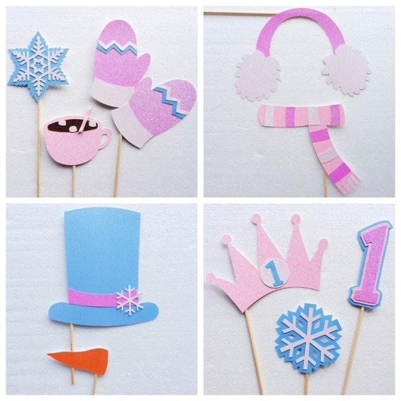 Winter Onederland Photo Booth Props Winter Wonderland Etsy