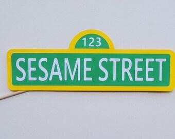Sesame Street Sign ; Sesame Street Photo Booth Prop ; Sesame Street Party ; Elmo Birthday Party Decoration