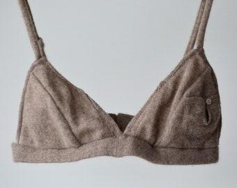 Wool Bra Cashmere Bralette Brighton Lace Cashmere Underwear Bralette Ethical Underwear Wool Underwear Cashmere Bra Cashmere Bralette