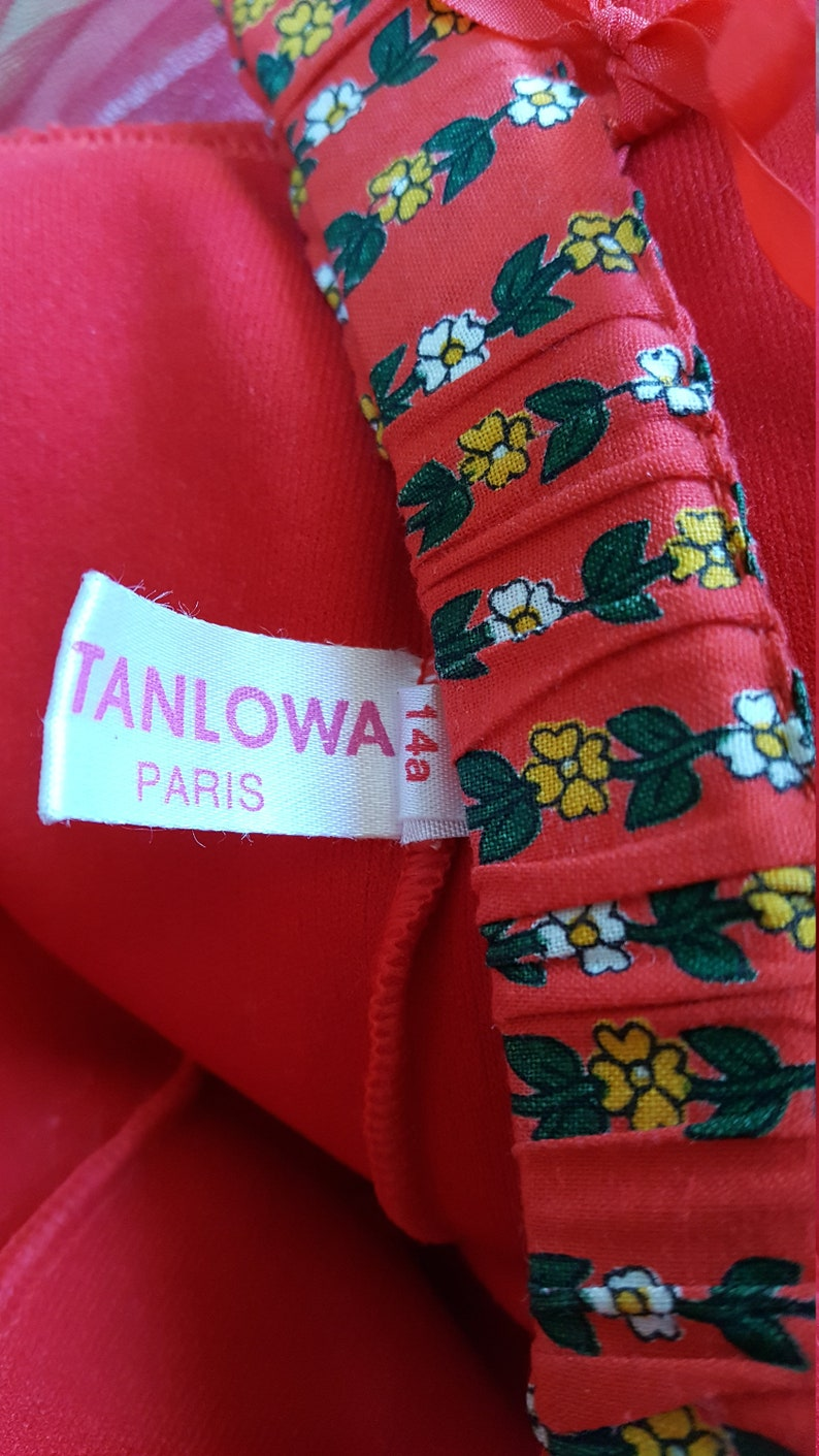 Girls tutu skirt Paris Tulle skirt Stanlova Red 4-layer ballet tutu.Size 14 years.Vintage ballerina tutu dress Tutu drsss. justaucorps