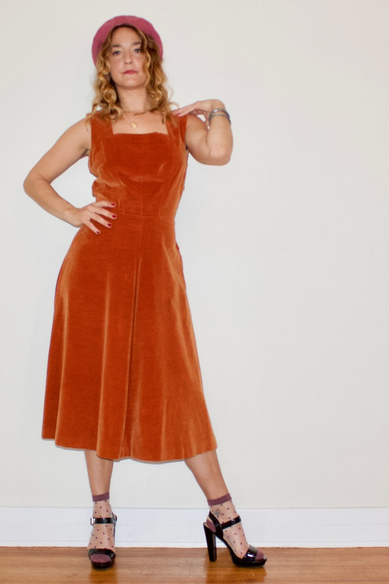 Loretta/'s Luscious Rust Velvet Dress