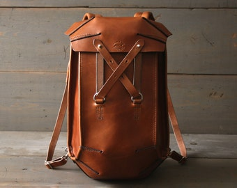 67b000a0d524 Leather Backpack - Slim Backpack - Leather Rucksack Bag - Travel Backpack - Handmade  Backpack - School Bag - Laptop Bag - Shoulder Bag