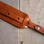Handmade Folk Guitar Strap - Leather Guitar Strap w/ Shoulder Pad - Custom Leather Strap - Personalized Guitar - Custom Monogram - Acoustic