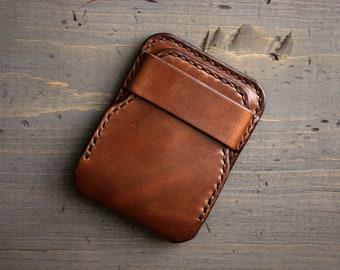 Handmade Leather Wallet - Slim Mens Wallet Minimalist - Front Pocket Bifold - Engraved Monogram Wallet - Personalized - Thin Card Holder