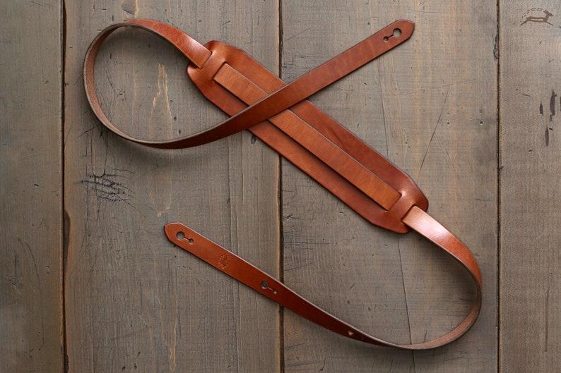 Leather Guitar Strap  Custom Guitar Strap  Handmade Guitar image 0