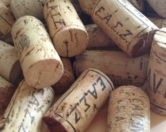 Greek Wine Corks, for DIY OOAK projects, used-recycled, craft supplies, mixed media, art supplies,  Greece