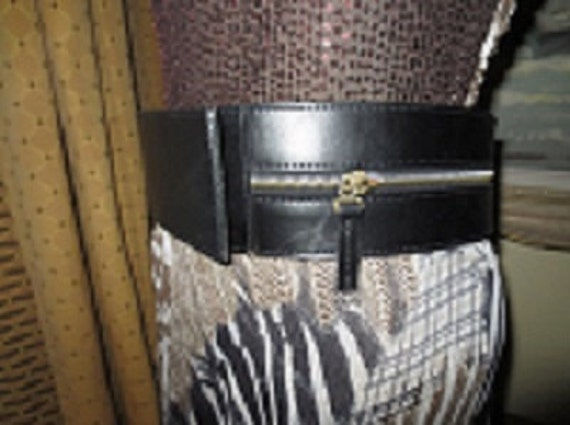 Awesome Wide Black Leather 3 inch Wide Belt , Firm