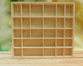 Plain Wooden Display Unit - Display Shelves - Trinket Shelf- Compartment tray - Wall Hanging Organiser- Printer Tray