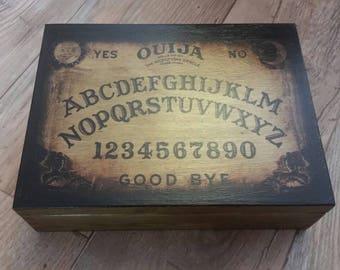 Handmade Vintage Design Ouija Board Trinket Curio Wooden Jewellery Box