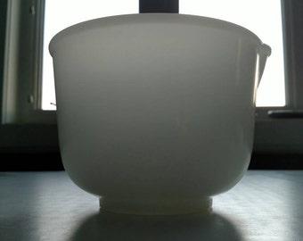 Glasbake Small Mixing Bowl for Sunbeam Mixer White Milk Glass